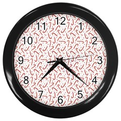 Candy Cane Wall Clocks (black) by patternstudio