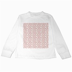 Candy Cane Kids Long Sleeve T Shirts by patternstudio