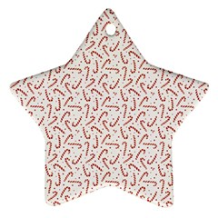 Candy Cane Star Ornament (two Sides) by patternstudio