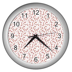 Candy Cane Wall Clocks (silver)  by patternstudio