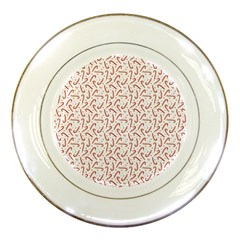 Candy Cane Porcelain Plates by patternstudio