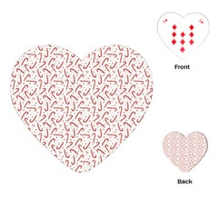 Candy Cane Playing Cards (heart)  by patternstudio