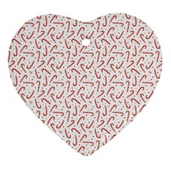 Candy Cane Heart Ornament (two Sides) by patternstudio