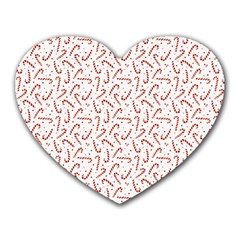 Candy Cane Heart Mousepads by patternstudio