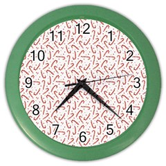 Candy Cane Color Wall Clocks by patternstudio