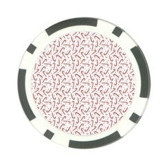 Candy Cane Poker Chip Card Guard by patternstudio