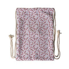 Candy Cane Drawstring Bag (small) by patternstudio