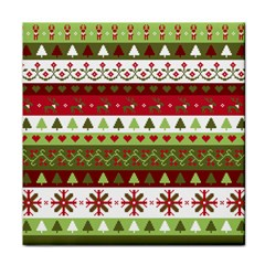 Christmas Spirit Pattern Tile Coasters by patternstudio