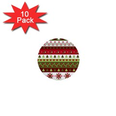 Christmas Spirit Pattern 1  Mini Buttons (10 Pack)  by patternstudio