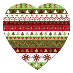 Christmas Spirit Pattern Jigsaw Puzzle (heart) by patternstudio