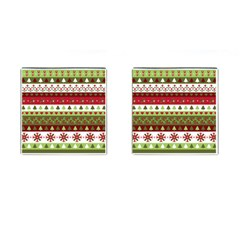 Christmas Spirit Pattern Cufflinks (square) by patternstudio