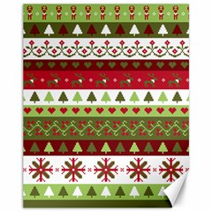 Christmas Spirit Pattern Canvas 11  X 14   by patternstudio