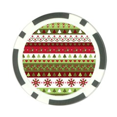 Christmas Spirit Pattern Poker Chip Card Guard (10 Pack) by patternstudio
