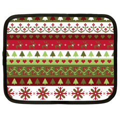Christmas Spirit Pattern Netbook Case (xxl)  by patternstudio