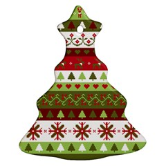 Christmas Spirit Pattern Christmas Tree Ornament (two Sides) by patternstudio