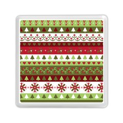 Christmas Spirit Pattern Memory Card Reader (square)  by patternstudio