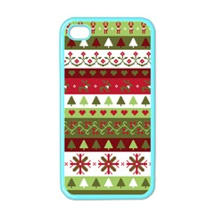 Christmas Spirit Pattern Apple Iphone 4 Case (color) by patternstudio