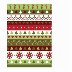 Christmas Spirit Pattern Large Garden Flag (two Sides) by patternstudio