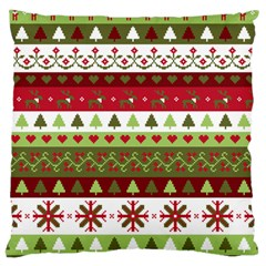 Christmas Spirit Pattern Large Cushion Case (one Side) by patternstudio