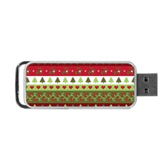 Christmas Spirit Pattern Portable Usb Flash (two Sides) by patternstudio