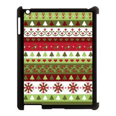 Christmas Spirit Pattern Apple Ipad 3/4 Case (black) by patternstudio