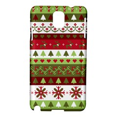 Christmas Spirit Pattern Samsung Galaxy Note 3 N9005 Hardshell Case by patternstudio