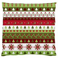 Christmas Spirit Pattern Large Flano Cushion Case (one Side) by patternstudio