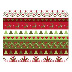 Christmas Spirit Pattern Double Sided Flano Blanket (large)  by patternstudio