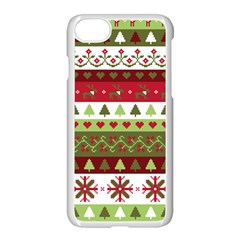 Christmas Spirit Pattern Apple Iphone 7 Seamless Case (white) by patternstudio