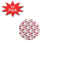 Ho Ho Ho Santaclaus Christmas Cheer 1  Mini Magnet (10 Pack)  by patternstudio
