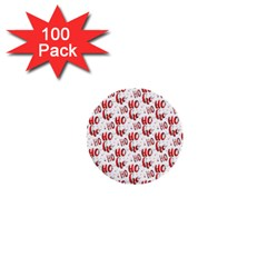 Ho Ho Ho Santaclaus Christmas Cheer 1  Mini Buttons (100 Pack)  by patternstudio