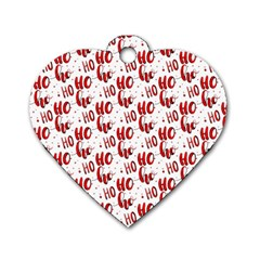 Ho Ho Ho Santaclaus Christmas Cheer Dog Tag Heart (two Sides) by patternstudio