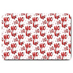 Ho Ho Ho Santaclaus Christmas Cheer Large Doormat  by patternstudio