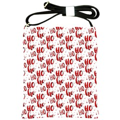 Ho Ho Ho Santaclaus Christmas Cheer Shoulder Sling Bags by patternstudio