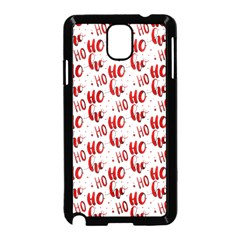 Ho Ho Ho Santaclaus Christmas Cheer Samsung Galaxy Note 3 Neo Hardshell Case (black) by patternstudio