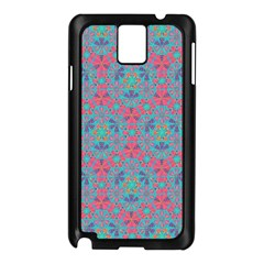 Bereket Pink Blue Samsung Galaxy Note 3 N9005 Case (black) by Cveti