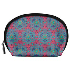 Bereket Pink Blue Accessory Pouches (large)  by Cveti
