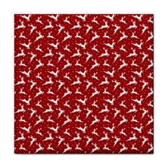 Red Reindeers Tile Coasters