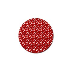 Red Reindeers Golf Ball Marker (4 Pack) by patternstudio