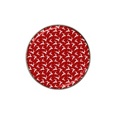 Red Reindeers Hat Clip Ball Marker (10 Pack) by patternstudio