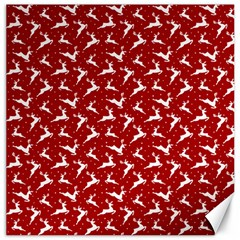 Red Reindeers Canvas 12  X 12   by patternstudio
