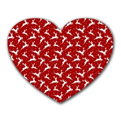 Red Reindeers Heart Mousepads by patternstudio
