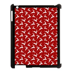 Red Reindeers Apple Ipad 3/4 Case (black) by patternstudio