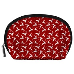 Red Reindeers Accessory Pouches (large)  by patternstudio