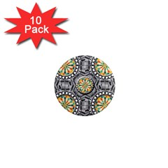 Beveled Geometric Pattern 1  Mini Magnet (10 Pack)  by linceazul