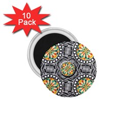 Beveled Geometric Pattern 1 75  Magnets (10 Pack)  by linceazul