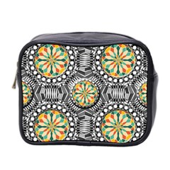 Beveled Geometric Pattern Mini Toiletries Bag 2 Side