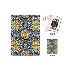 Beveled Geometric Pattern Playing Cards (mini)  by linceazul