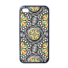 Beveled Geometric Pattern Apple Iphone 4 Case (black) by linceazul