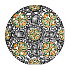 Beveled Geometric Pattern Ornament (round Filigree) by linceazul